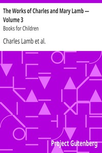 Cover of The Works of Charles and Mary Lamb — Volume 3 Books for Children