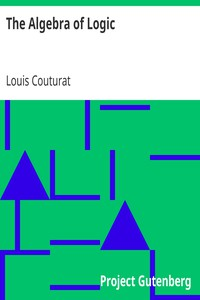 Cover of The Algebra of Logic