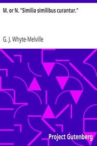 """Cover of M. or N. """"Similia similibus curantur."""""""