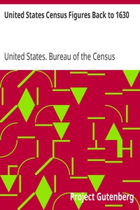 Cover of United States Census Figures Back to 1630