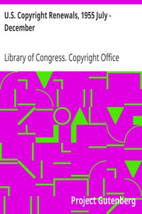 Cover of U.S. Copyright Renewals, 1955 July - December
