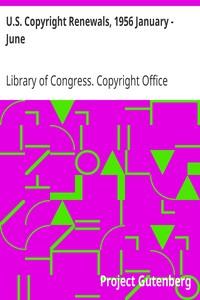 Cover of U.S. Copyright Renewals, 1956 January - June