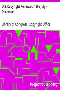 Cover of U.S. Copyright Renewals, 1966 July - December