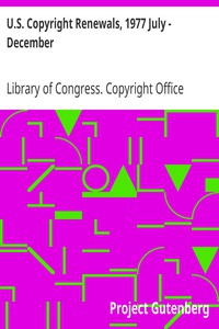 Cover of U.S. Copyright Renewals, 1977 July - December