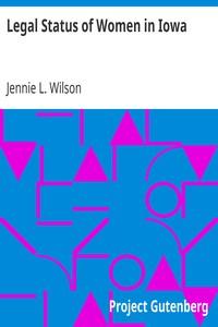 Cover of Legal Status of Women in Iowa