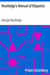 Cover of Routledge's Manual of Etiquette