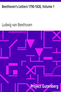 Cover of Beethoven's Letters 1790-1826, Volume 1
