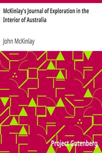 Cover of McKinlay's Journal of Exploration in the Interior of Australia