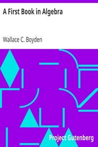 Cover of A First Book in Algebra