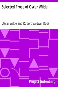 Cover of Selected Prose of Oscar Wilde