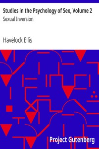 Cover of Studies in the Psychology of Sex, Volume 2 Sexual Inversion