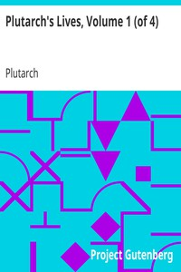 Cover of Plutarch's Lives, Volume 1 (of 4)