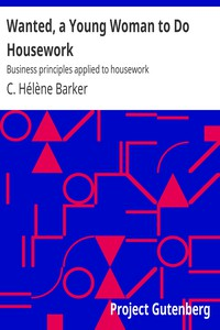 Cover of Wanted, a Young Woman to Do Housework: Business principles applied to housework