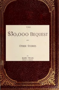 Cover of The $30,000 Bequest, and Other Stories