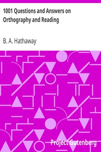 Cover of 1001 Questions and Answers on Orthography and Reading