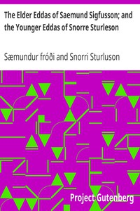 Cover of The Elder Eddas of Saemund Sigfusson; and the Younger Eddas of Snorre Sturleson