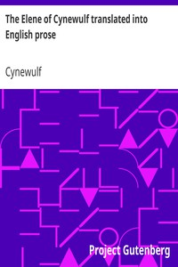 Cover of The Elene of Cynewulf translated into English prose