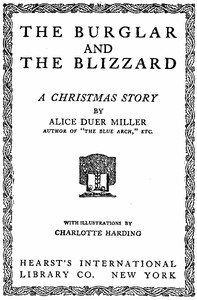 Cover of The Burglar and the Blizzard: A Christmas Story