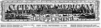 Scientific American Supplement No. 819, September 12, 1891