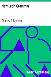 Cover of New Latin Grammar