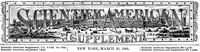 Scientific American Supplement, No. 794, March 21, 1891