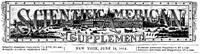 Cover of Scientific American Supplement, No. 441, June 14, 1884.