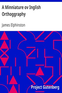 Cover of A Minniature ov Inglish Orthoggraphy
