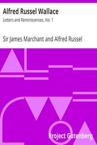 Cover of Alfred Russel Wallace: Letters and Reminiscences, Vol. 1