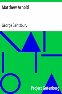 Cover of Matthew Arnold