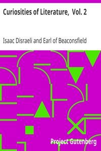 Cover of Curiosities of Literature,  Vol. 2