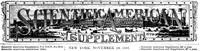 Cover of Scientific American Supplement, No. 620,  November 19,1887