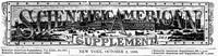 Cover of Scientific American Supplement, No. 561, October 2, 1886