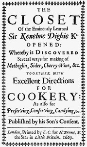 Cover of The Closet of Sir Kenelm Digby Knight Opened
