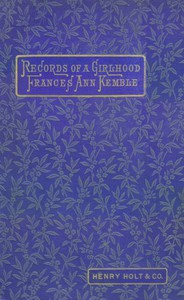 Cover of Records of a Girlhood