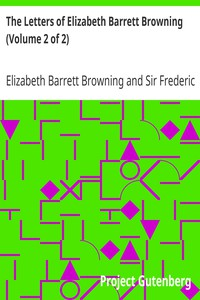 Cover of The Letters of Elizabeth Barrett Browning (Volume 2 of 2)