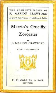 Cover of Marzio's Crucifix, and Zoroaster