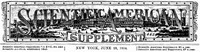 Cover of Scientific American Supplement, No. 443,  June 28, 1884