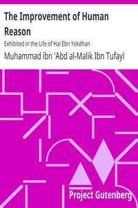 Cover of The Improvement of Human ReasonExhibited in the Life of Hai Ebn Yokdhan