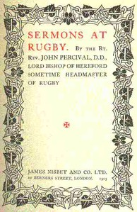 Cover of Sermons at Rugby