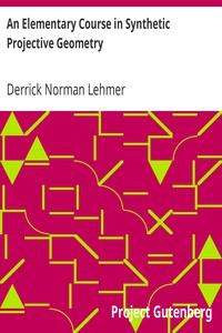 Cover of An Elementary Course in Synthetic Projective Geometry