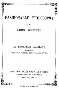 Cover of Fashionable Philosophy, and Other Sketches