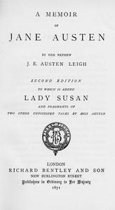 Cover of Memoir of Jane Austen