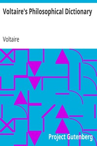 Cover of Voltaire's Philosophical Dictionary