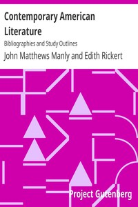 Contemporary American LiteratureBibliographies and Study Outlines