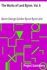 Cover of The Works of Lord Byron. Vol. 6