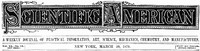 Cover of Scientific American, Volume 40, No. 13, March 29, 1879A Weekly Journal of Practical Information, Art, Science,Mechanics, Chemistry, and Manufactures