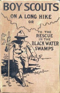 Cover of Boy Scouts on a Long Hike; Or, To the Rescue in the Black Water Swamps