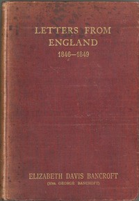 Cover of Letters from England, 1846-1849