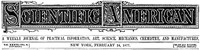 Cover of Scientific  American, Volume XXXVI., No. 8, February 24, 1877A Weekly Journal of Practical Information, Art, Science,Mechanics, Chemistry, and Manufactures.
