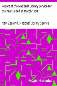 Cover of Report of the National Library Service for the Year Ended 31 March 1958